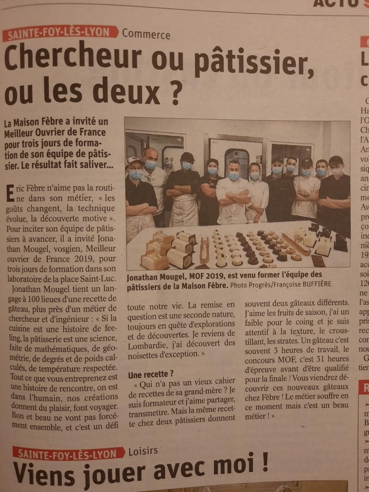 La maison FÈBRE a invité un Meilleur Ouvrier de France